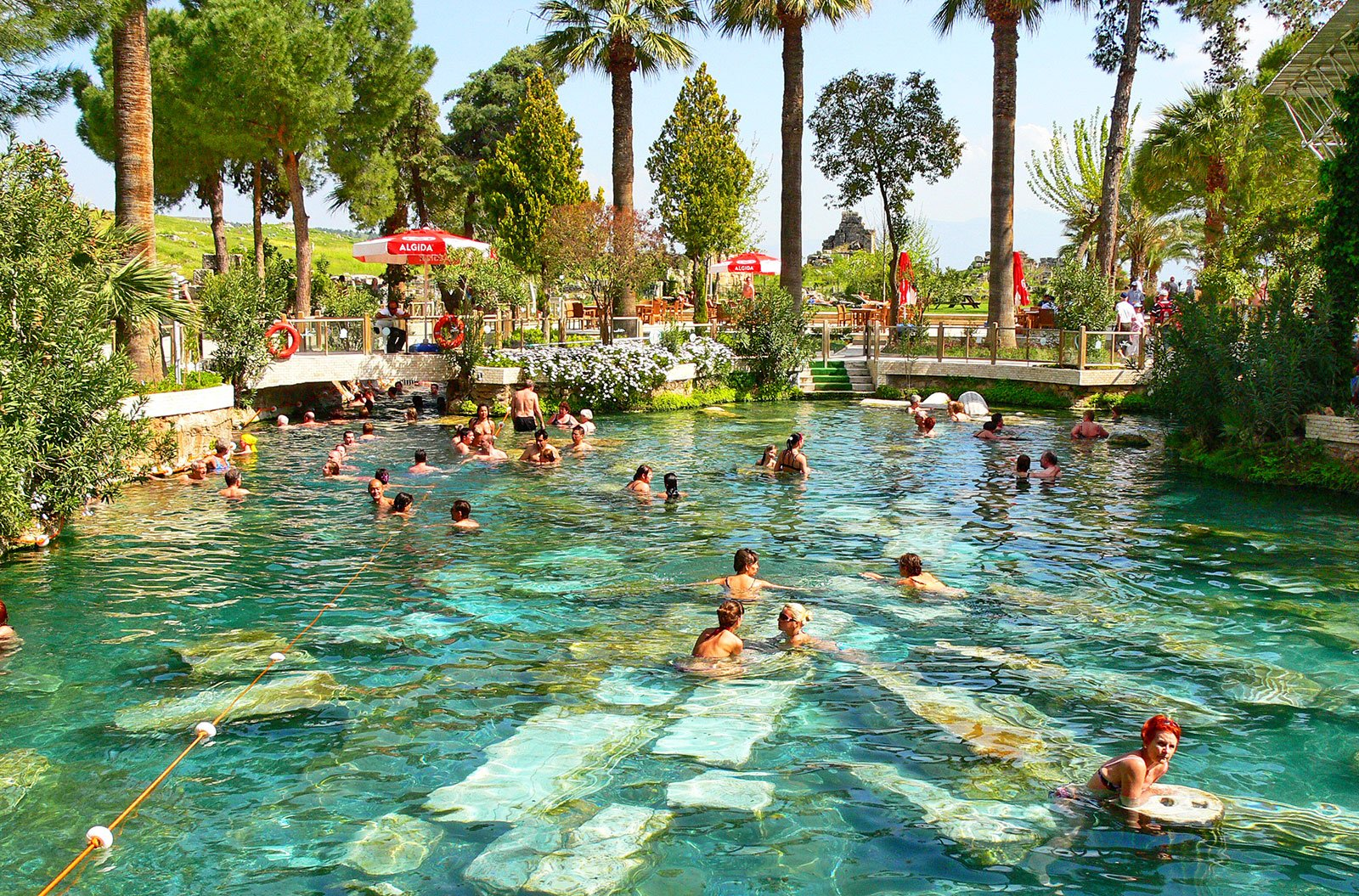 How to take a bath in Cleopatra's Antique Pool in Marmaris