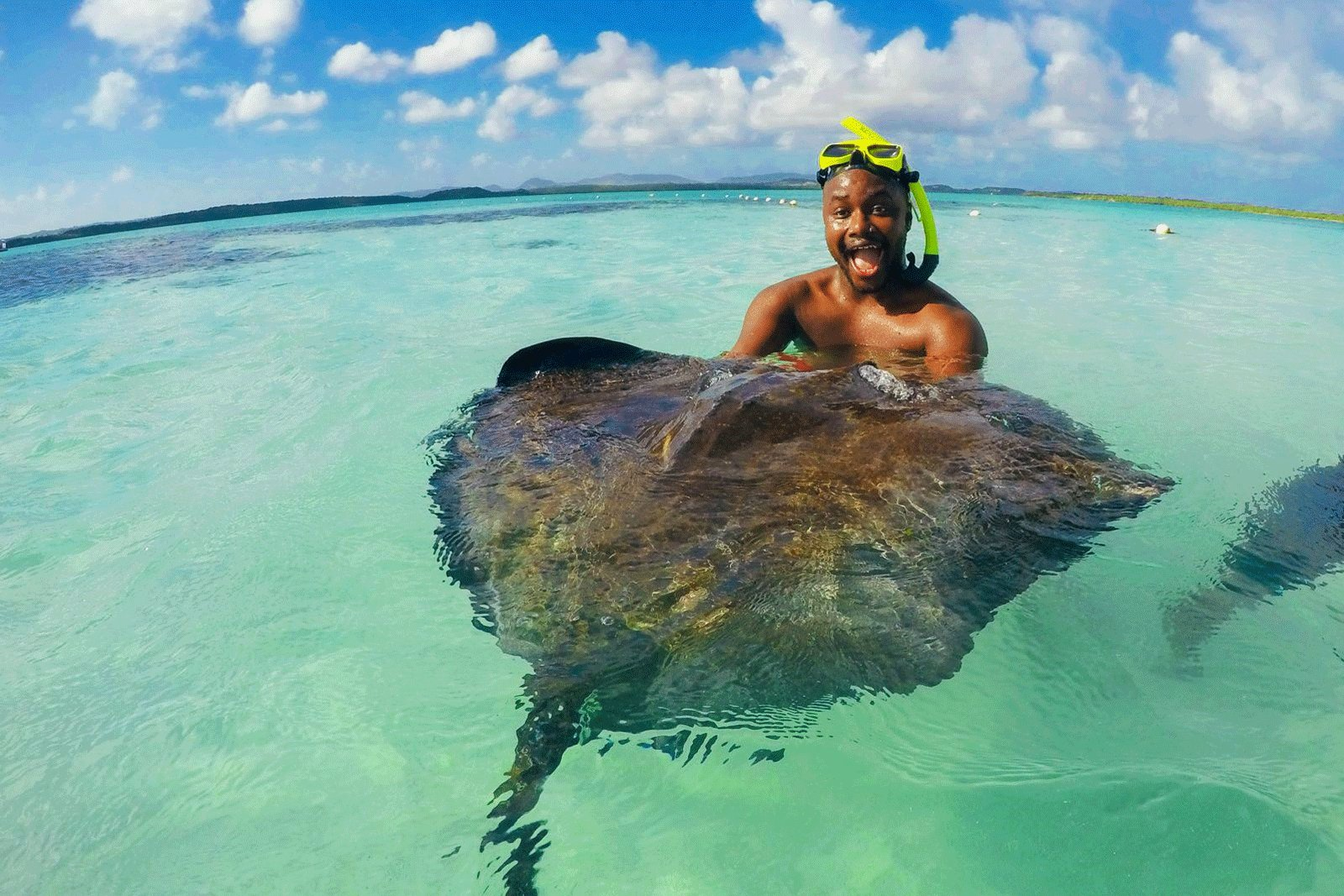 How to swim with stingrays on Bora Bora