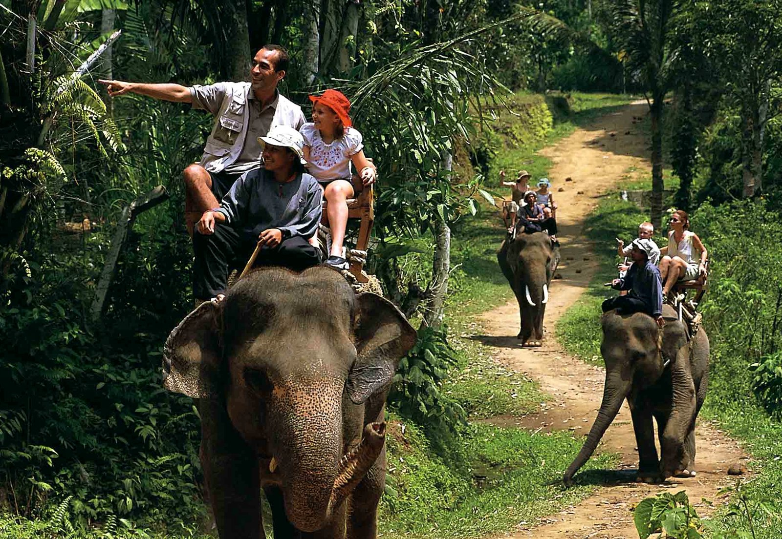 How to take an elephant ride in Bali