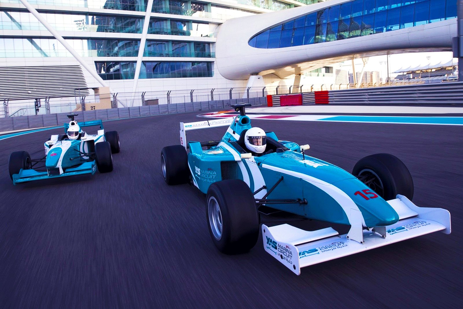 How to drive a race car along the Formula 1 circuit in Abu Dhabi