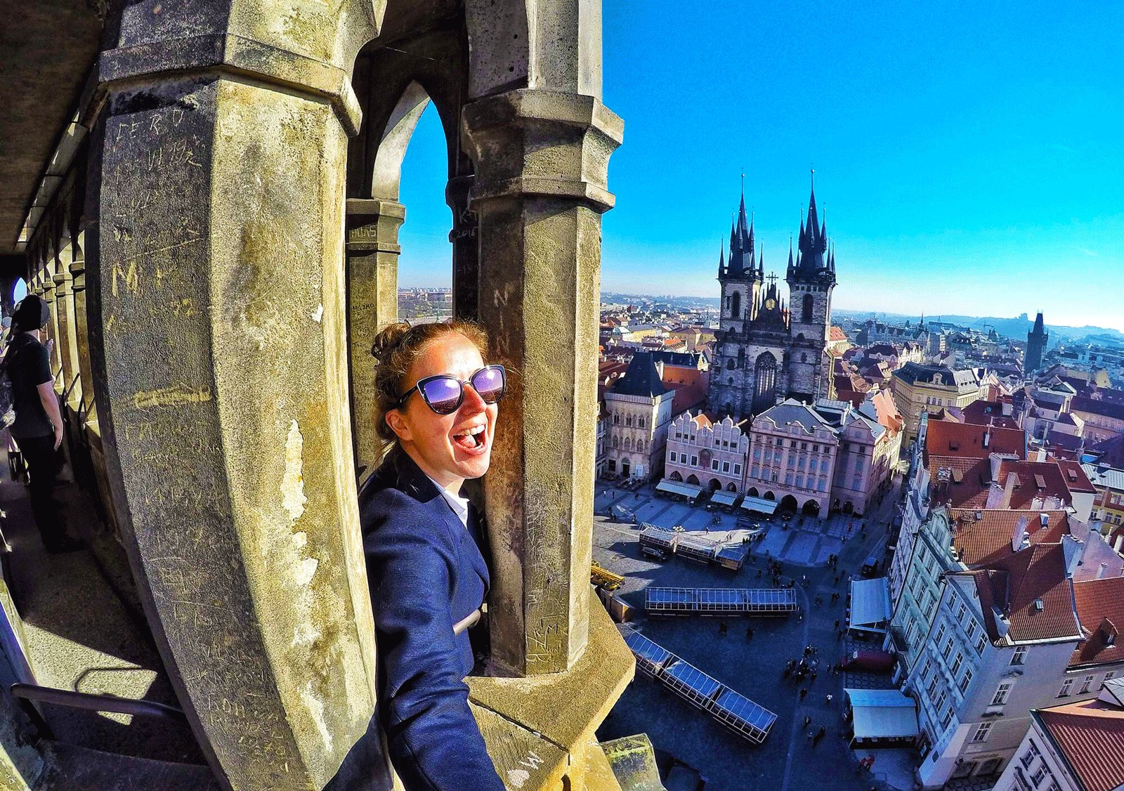 How to go up to the Old Town Hall tower in Prague