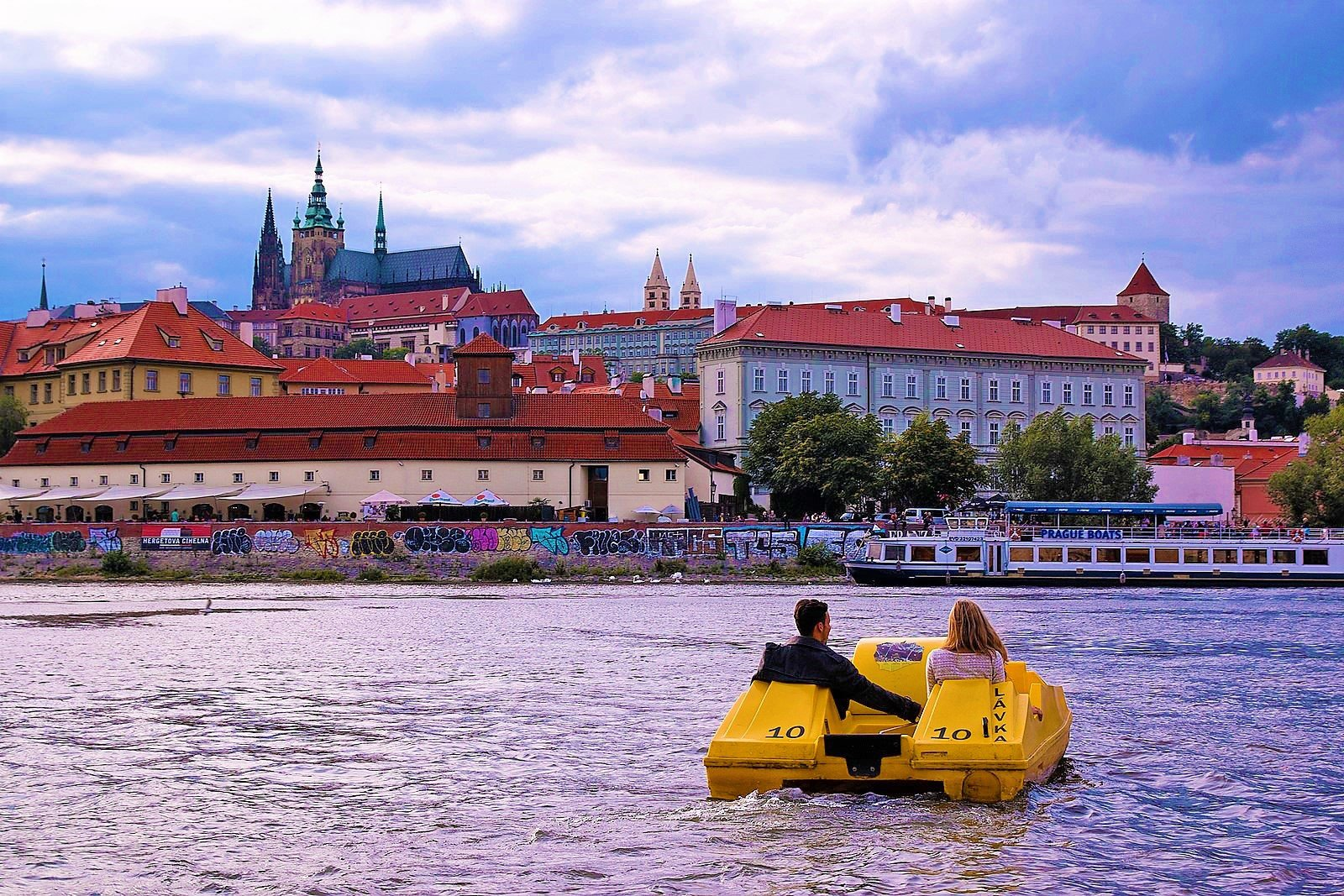 How to take a catamaran ride down the Vltava in Prague