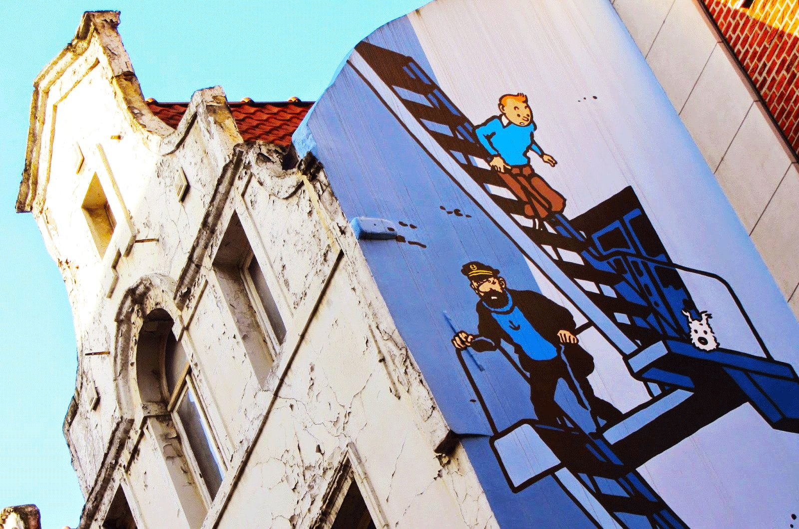How to take comic strip route in Brussels
