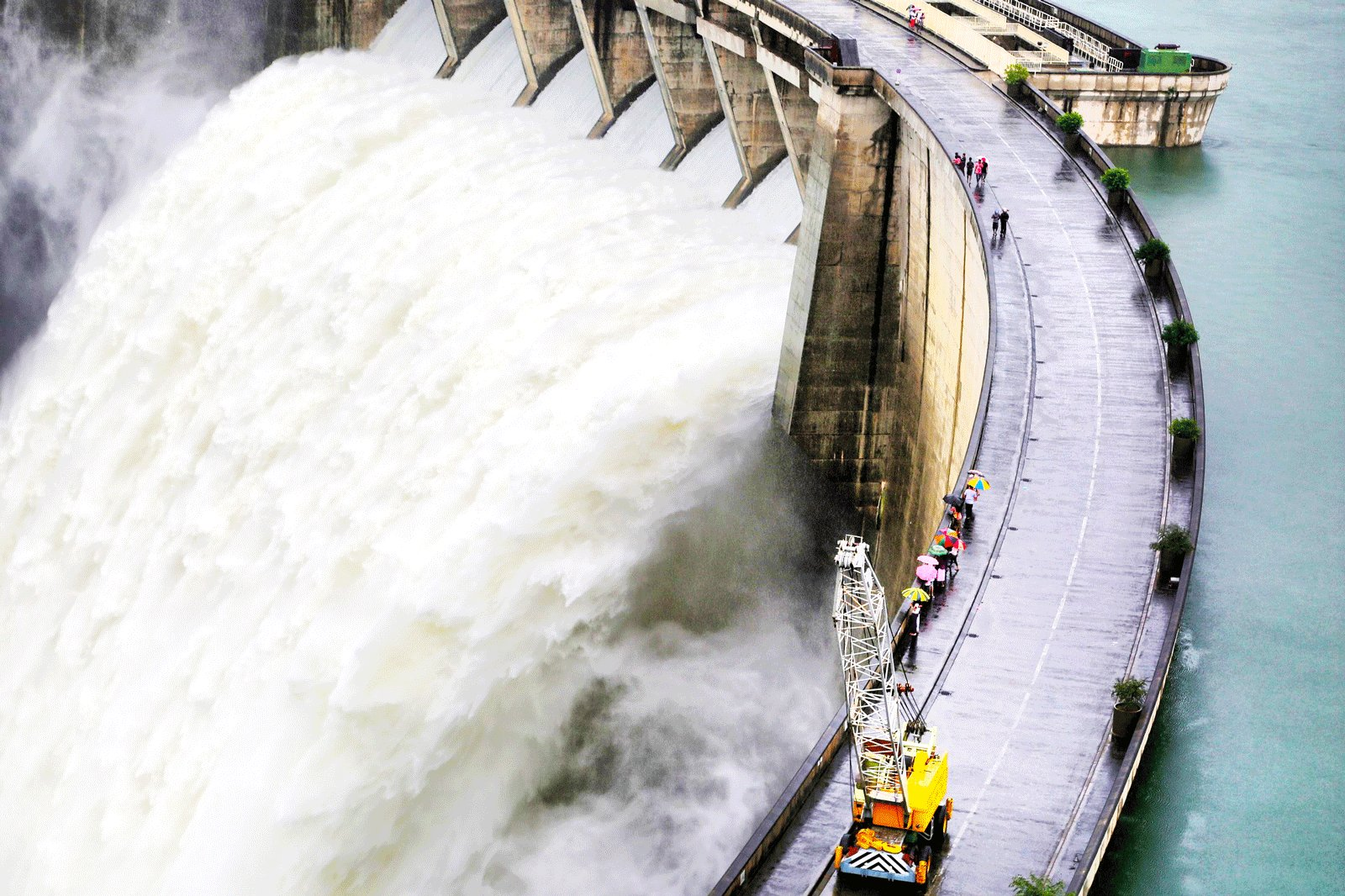 How to see dam water release in Kandy
