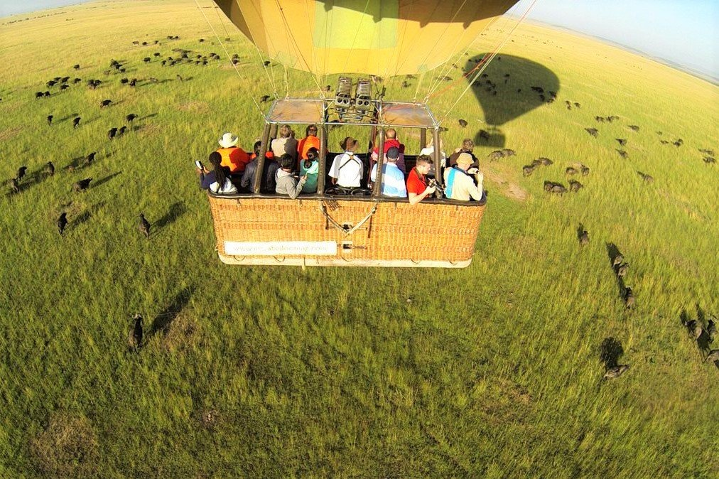 How to take a hot-air balloon ride over savannah in Arusha