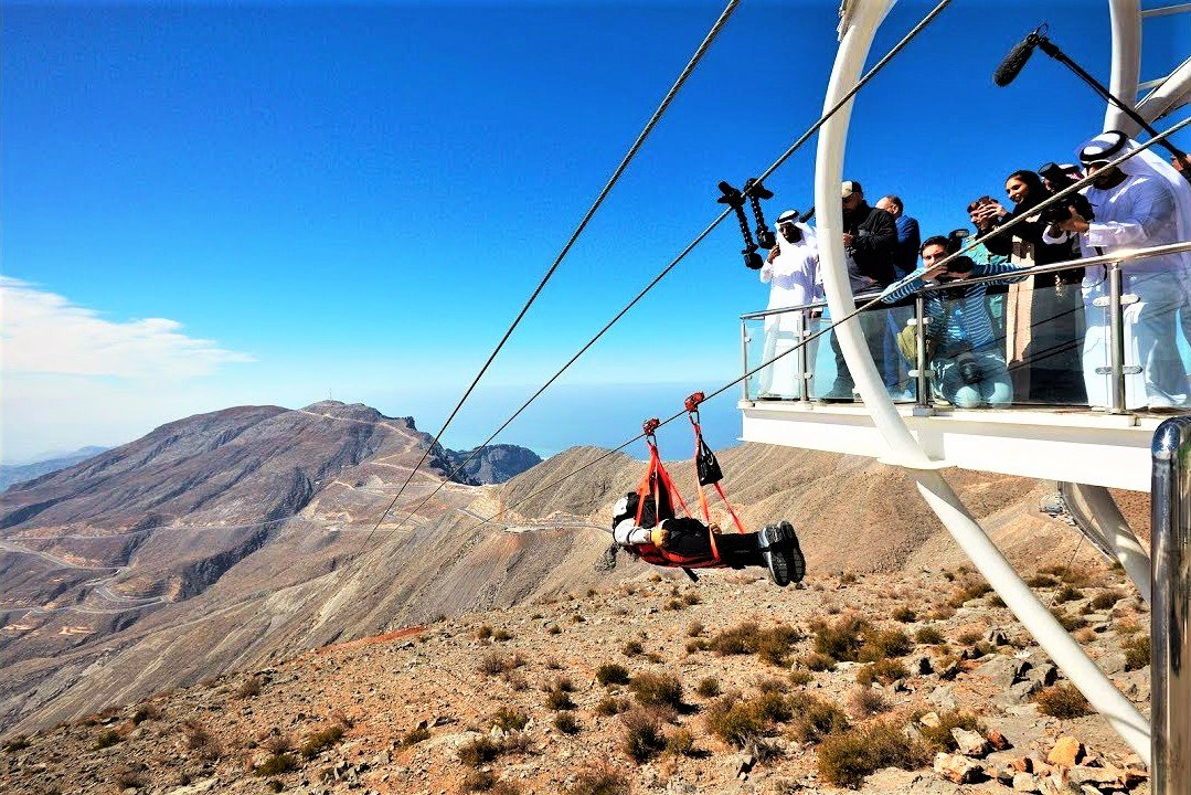 How to take a world's longest zip-line ride in Ras al-Khaimah