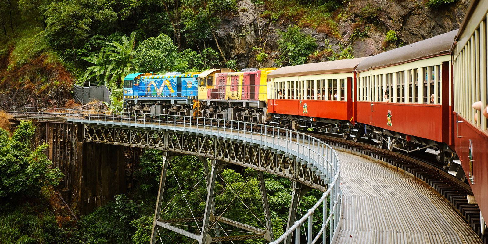 How to take a journey through the tropical forest on an old-fashioned train in Cairns