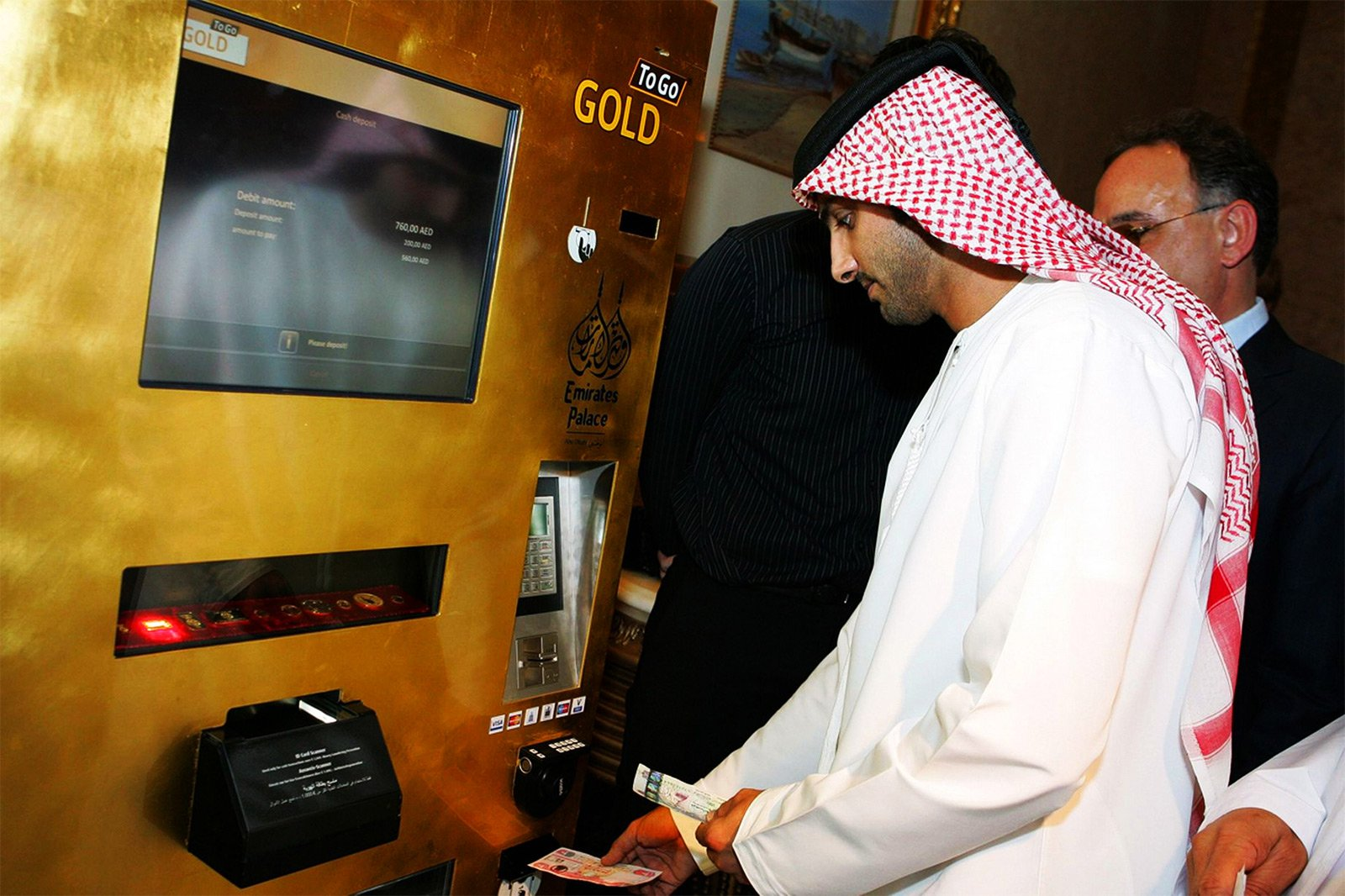 How to get gold from an ATM in Abu Dhabi