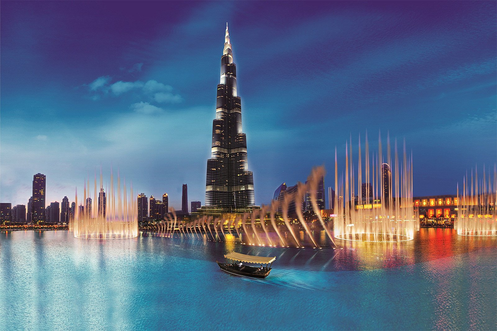 Singing and dancing fountains in Dubai