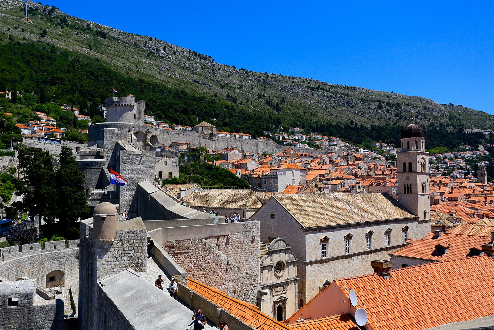 How to walk atop the City Walls of Dubrovnik in Dubrovnik