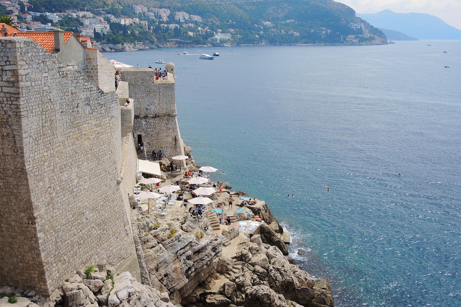 How to visit a cafe on the cliff in Dubrovnik