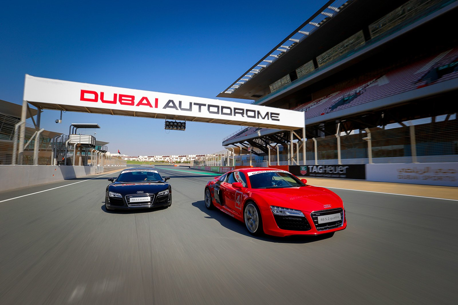 How to drive Audi R8 on a racing track in Dubai