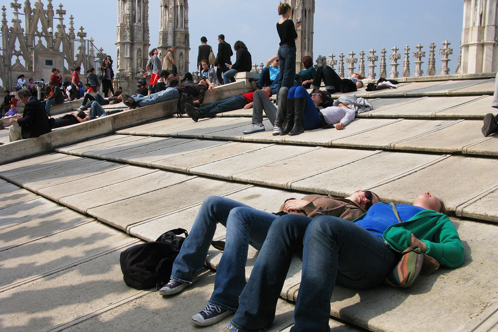How to get a tan on the roof of Milan Cathedral in Milan