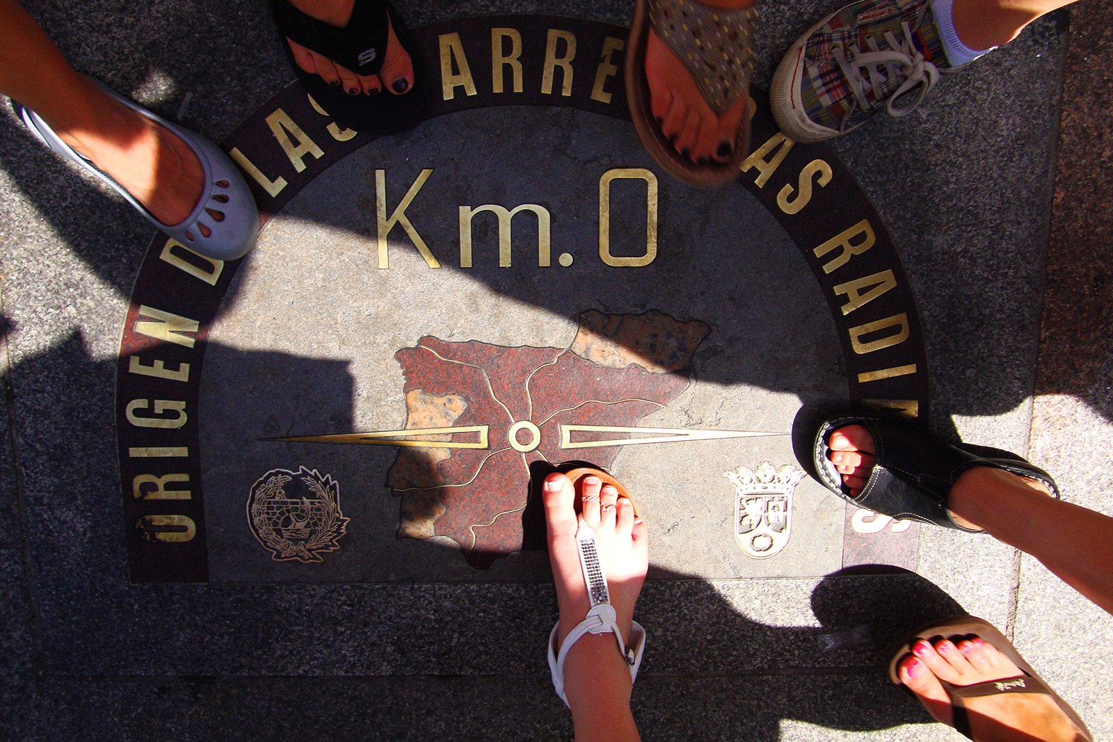 How to find zero kilometer on Puerta del Sol in Madrid
