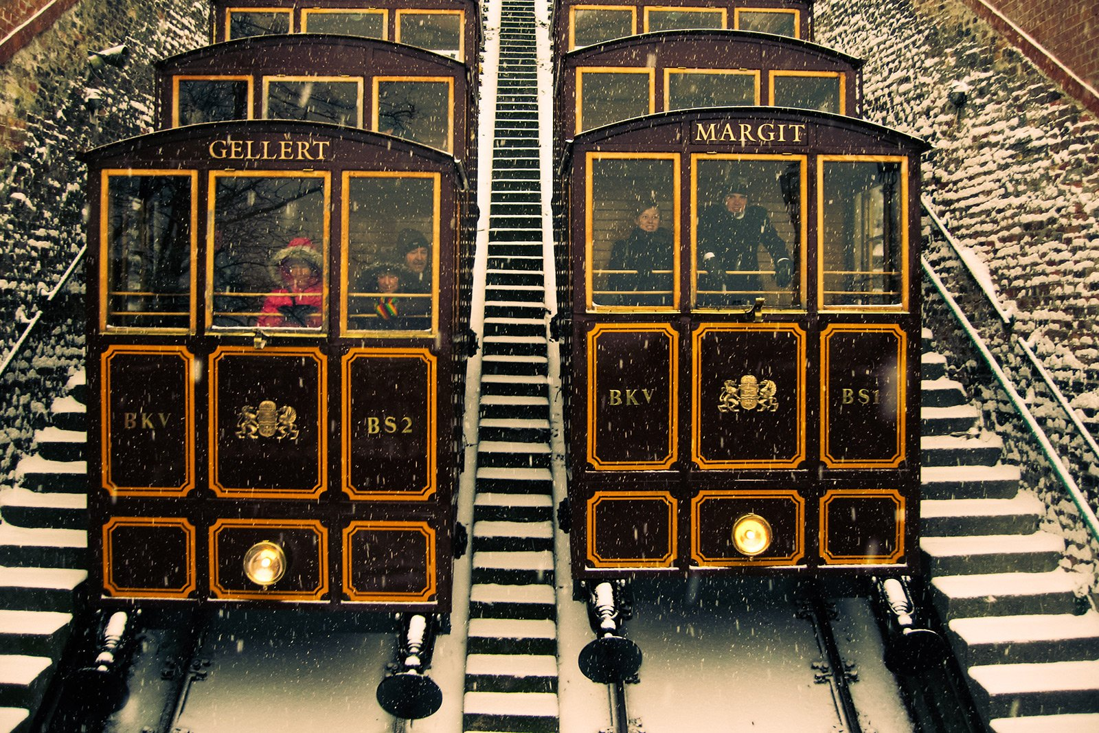 How to ride on the old funicular in Budapest