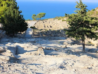 See the panorama of the ancient Kamiros town on Rhodes