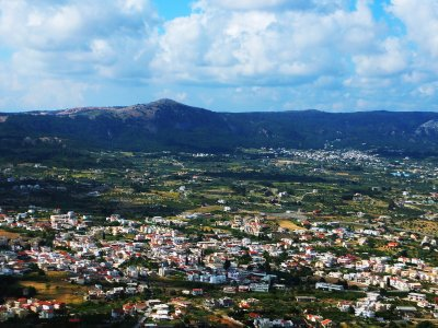 See the panorama of the two cities on Rhodes