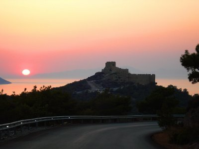 See the most beautiful sunset on Rhodes on Rhodes