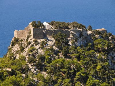Climb to the Monolithos castle on Rhodes