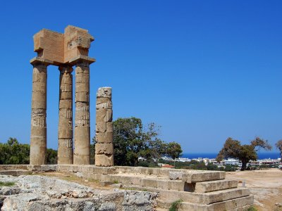 See the Acropolis of Rhodes on Rhodes
