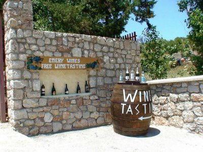Taste wine in Greece winery on Rhodes