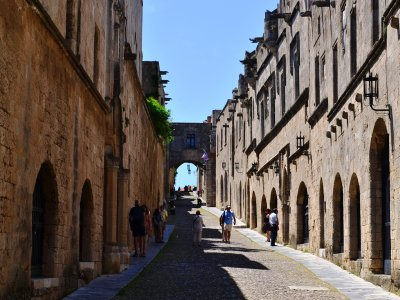 Walk through the the Street of the Knights on Rhodes