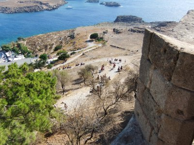 See the Acropolis of Lindos on Rhodes