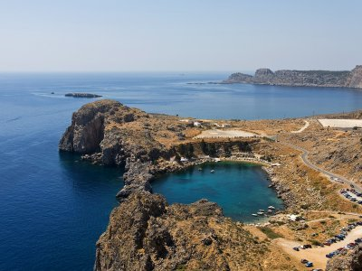 See the unique Bay of St. Paul in the shape of heart on Rhodes