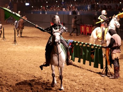 See a jousting tournament at the castle in Barcelona