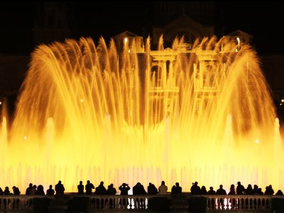 See the Singing Fountain in Barcelona