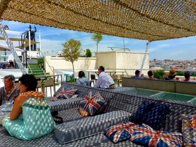 Drink coffee on the terrace with the best views of Madrid in Madrid