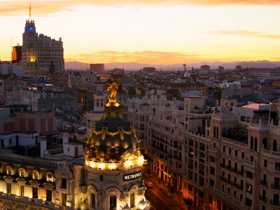 Enjoy Madrid from the roof of Circulo de Bellas Artes in Madrid