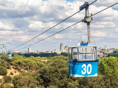 Ride cable car Teleferico in Madrid