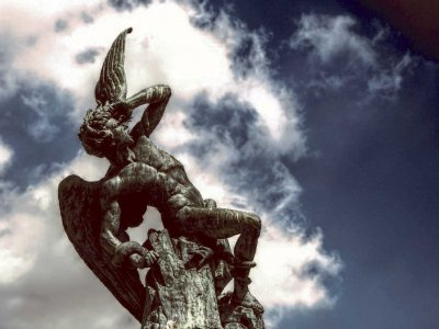 See the statue of Lucifer in Madrid