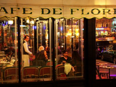 Visit the legendary Cafe de Flore in Paris