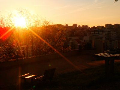 See sunset at Jardim do Torel in Lisbon