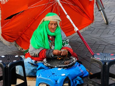 Learn your future from the fortune teller in Marrakesh