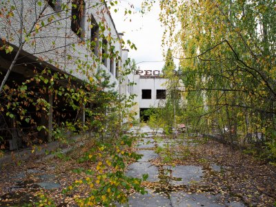 Walk around the ghost town in Chernobyl