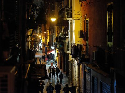 Walk through the famous Spaccanapoli in Naples