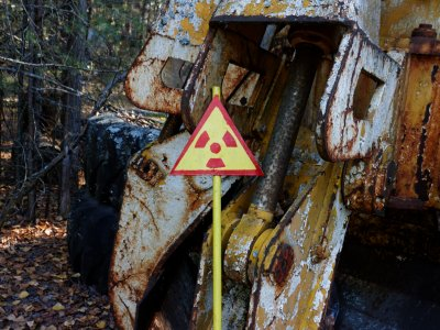 Sneak up into Buryakivka radioactive cemetery in Chernobyl