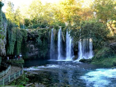 Walk along the Duden Waterfalls in Antalya