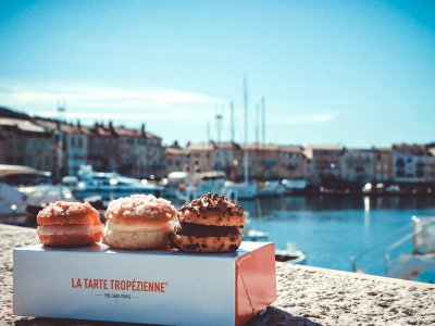 Try tropezienne tart in Saint-Tropez