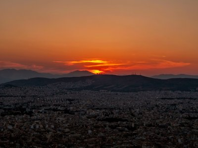 See the sunset from Mount Lycabettus in Athens