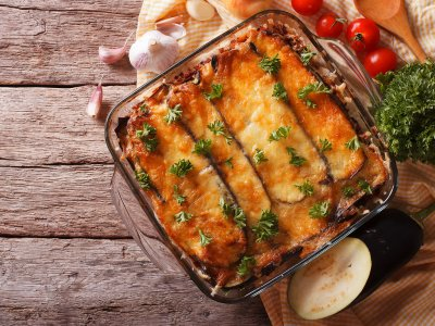 Try Greek moussaka in Athens