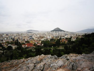 See Athens from the top of the Areopagus Hill in Athens