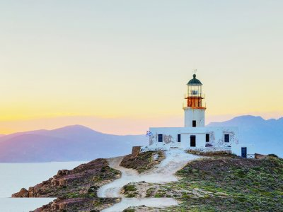 Climb the Armenistis lighthouse on Mykonos