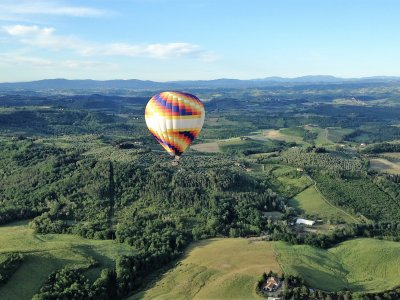 Fly in a hot air balloon over Tuscany in Florence