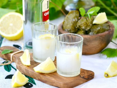 Get drunk with Greek vodka - ouzo in Athens