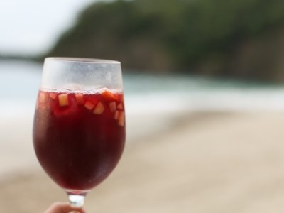 Drink sangria on the Barceloneta beach in Barcelona