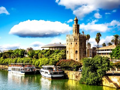 Ride a river tram in Seville